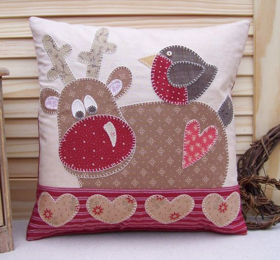 reindeer pillow for couch! love it!