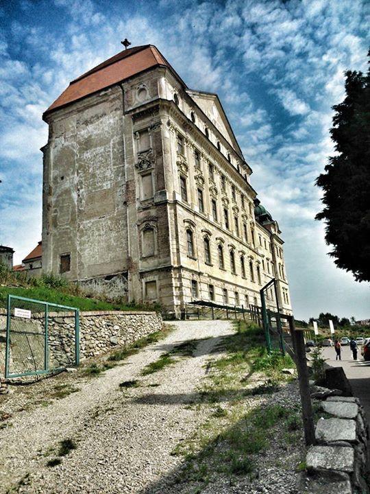 Monastery hospital for Napoleons army in 1800,Znojmo in Czech Republic