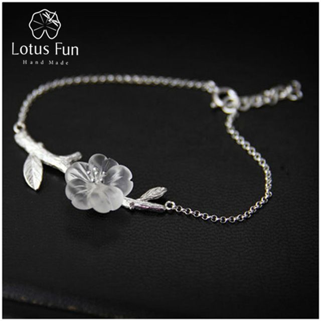 Special offer Lotus Fun Real 925 Sterling Silver Natural Crystal Handmade Fine Jewelry Creative Flower in the Rain Design Bracelet for Women  just only $19.42 with free shipping worldwide  #finejewelry Plese click on picture to see our special price for you