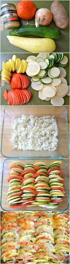 Vegetable Tian - Veggies Rice...