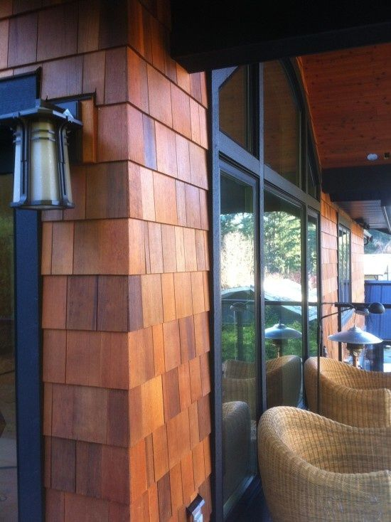 Cedar Shingles Create Quite The Outdoor Style I Like This
