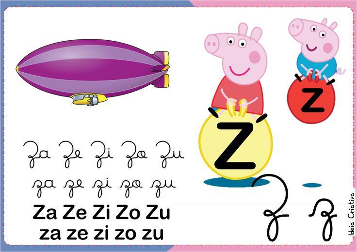 Família Silábica Peppa letra Z