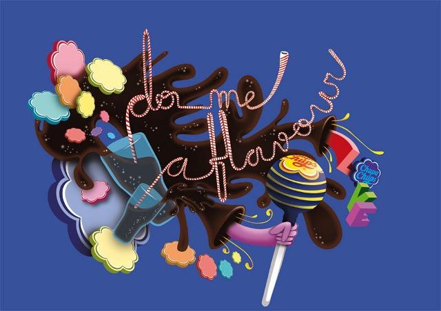 www.daq.es Chupa Chups Cola - daq art direction, illustration, typography & more