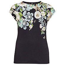 Buy Ted Baker Veeni Gem Gardens Fitted T-Shirt, Black Online at johnlewis.com