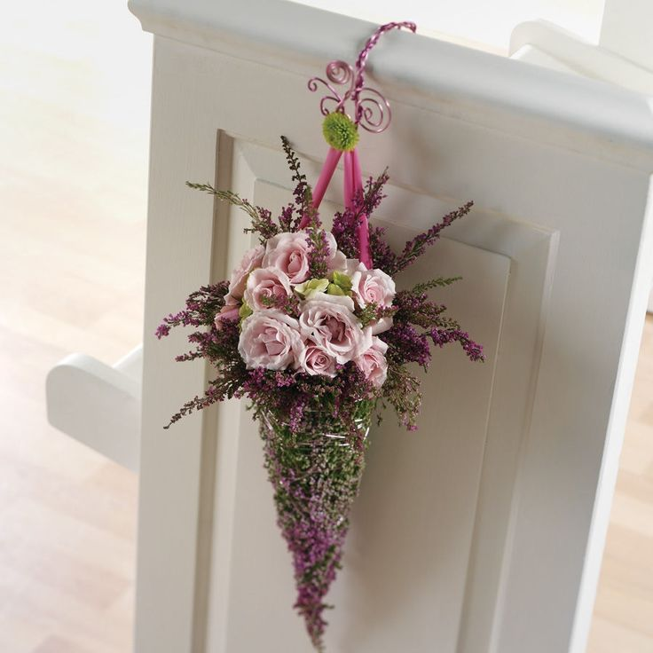 Church Wedding Flower Decorations: 17 Best Images About Church Pew And Wedding Chair Pomander