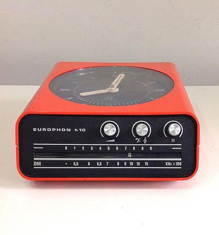 Radio Orologio clock Europhon H10 aragosta Design anni 60/70 D epoca Funzionante
