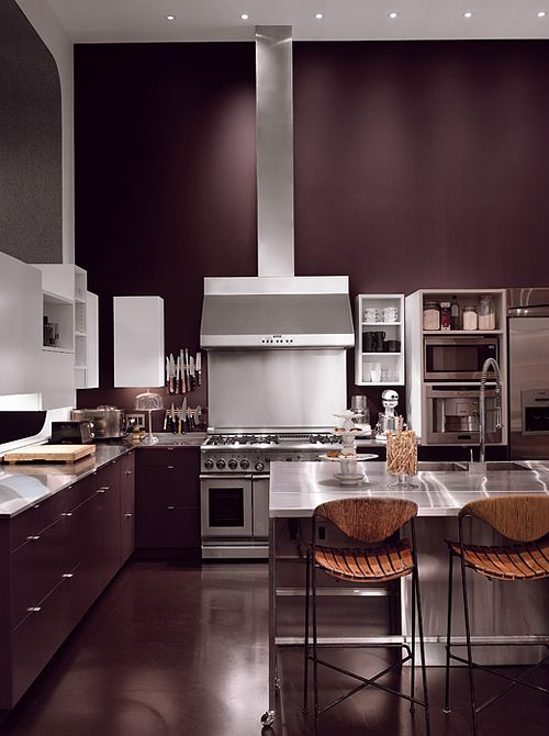 Kitchen walls and cabinets in the same color cool for Cool kitchen wall colors