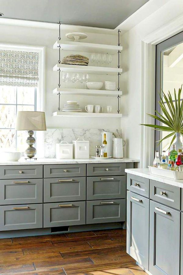 Lovely Grey Kitchen Cabinets Design Ideas For Cool Homes Page 10 Of 50 Evelyn S World My Dreams My Colors And My Life Shaker Style Kitchen Cabinets Kitchen Cabinet Styles Grey Kitchen Designs