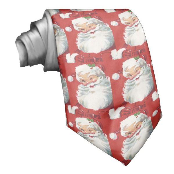 Santa Claus Vintage Christmas Necktie