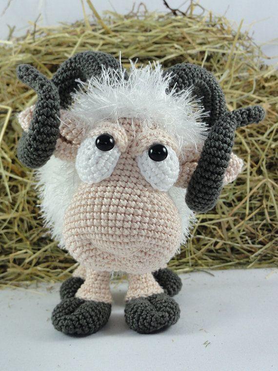 Rambert the Ram Amigurumi Crochet Pattern por IlDikko en Etsy