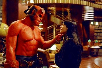 Ron Perlman as Hellboy and Selma Blair as Liz Sherman in Hellboy Movie ...