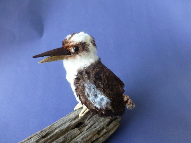 """A Les Bears Miniature kookaburra - just 4""""/10cm tall."""