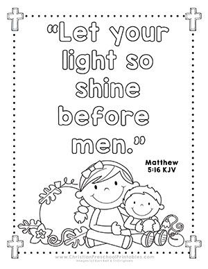 69 Best Bible Class Parables Images On Pinterest Let Your Light Shine Coloring Page