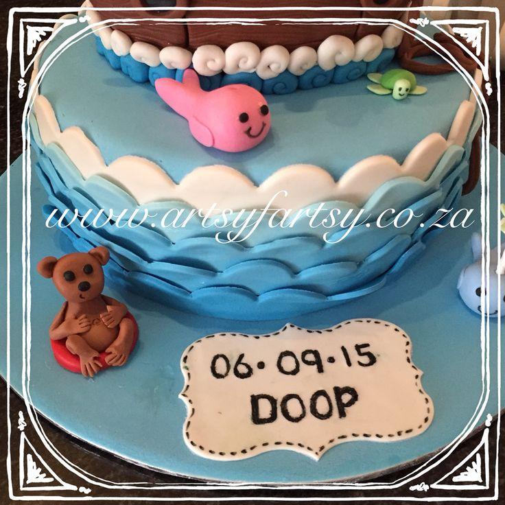 Noah's Ark Baptism Cake #noahsarkbaptismcake