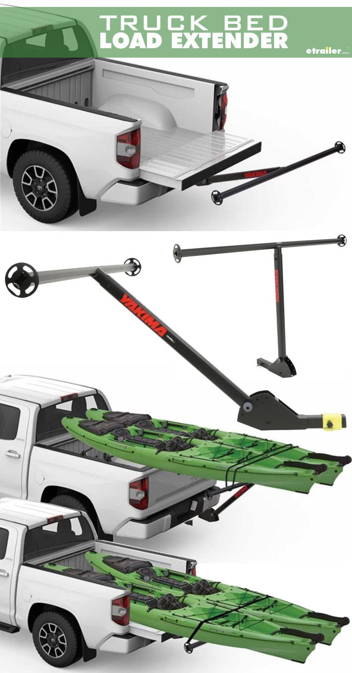 The new Yakima LongArm Truck Bed Extender weighs only 12.5 lbs. - that's half the weight of some steel extenders! You won't break your back loading it into your hitch and you still get 300 lbs. of extra-long-load carrying strength.