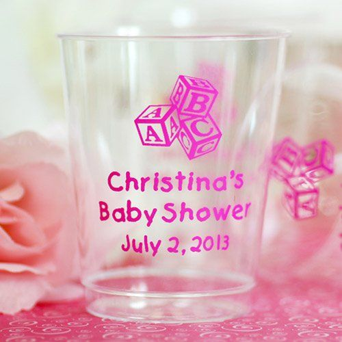 Personalized Clear Plastic Baby Shower Cups by Beau-coup