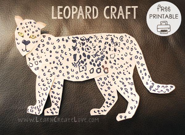 Leopard Printable Craft   LearnCreateLove.com