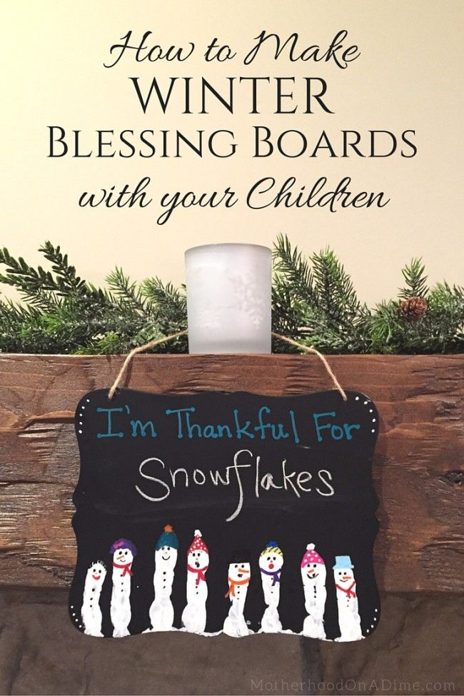How to Make Winter Blessing Boards with your Children
