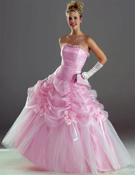 Белое с розовым свадебное платье в салонах одессы