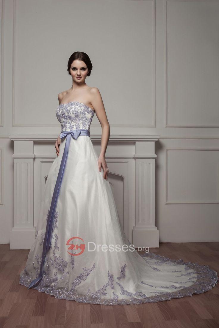 populárne drahokamy a aplikovaný bez ramienok linka saténové svadobné šaty s mašľou na predaj
