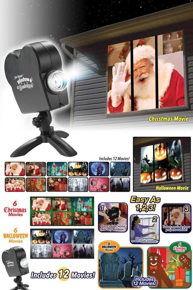 Star Shower Window Wonderland Projector As Seen on TV Christmas Xmas Movies NEW #StarShower