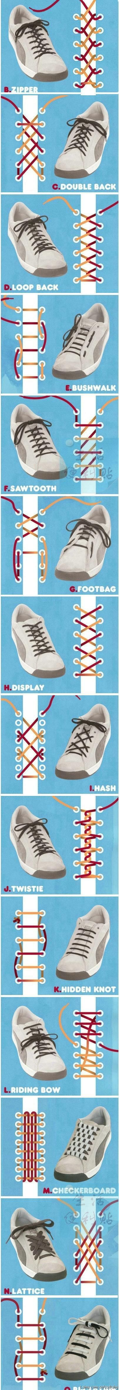 many different ways to tie your shoe....