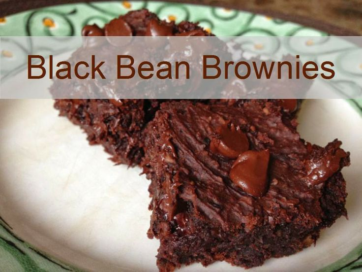 black bean brownies recipe - no flour required