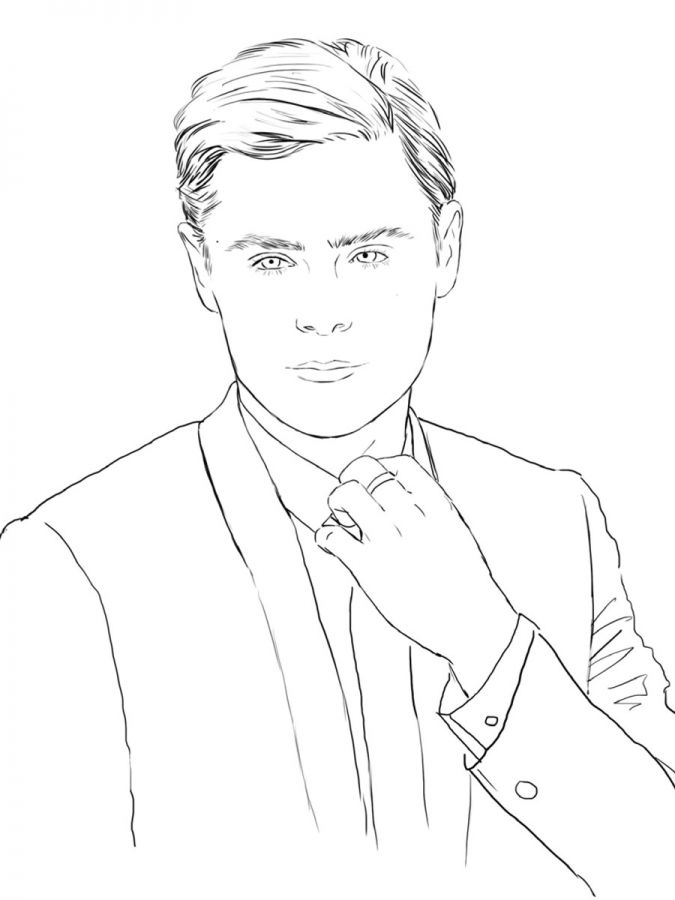 Zac Efron A Look At The 39 Color Me Swoon 39 Coloring Book