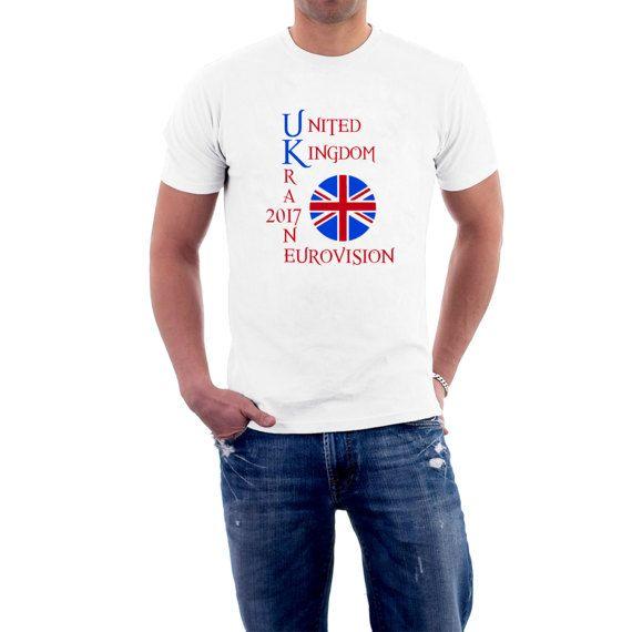 Eurovision UK UKRAINE T-shirt. Kiev 2017 Song Contest by SillyTees #esc2017