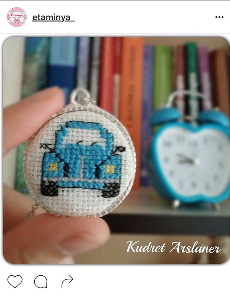 Volkswagen Necklace Cross Stitch Pattern