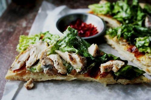 Chicken Caesar Salad Pizza: Salad Pizza, Night Pizza, Ceaser Salad, Ceasar Salad, Caesar Chicken, Chicken Caesar Salad, Grilled Chicken, Chicken Ceaser, Caesar Pizza
