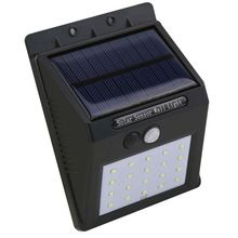 Chine fournisseur noir couleur solar power motion sensor solaire led mur extérieur lumière jardin lumière