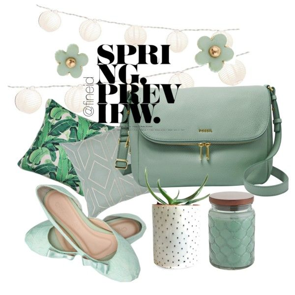 Spring Preview by fineid on Polyvore featuring moda, FOSSIL, Accessorize, Dot & Bo, Pier 1 Imports and LumaBase
