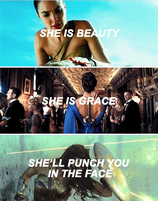 Wonder Woman 2017 | My lock screen is literally the movie poster with this quote.