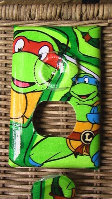 Tmnt Michelangelo Donatello Leonardo Raphael Outlet Plate Cover With Child Safety Covers