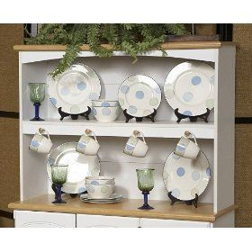 Kitchen Essentials Hutch in White / Maple - New Visions by Lane 394-742 $91.20