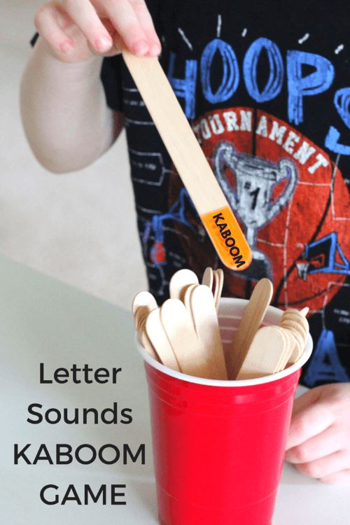 KABOOM alphabet game for learning letter sounds.