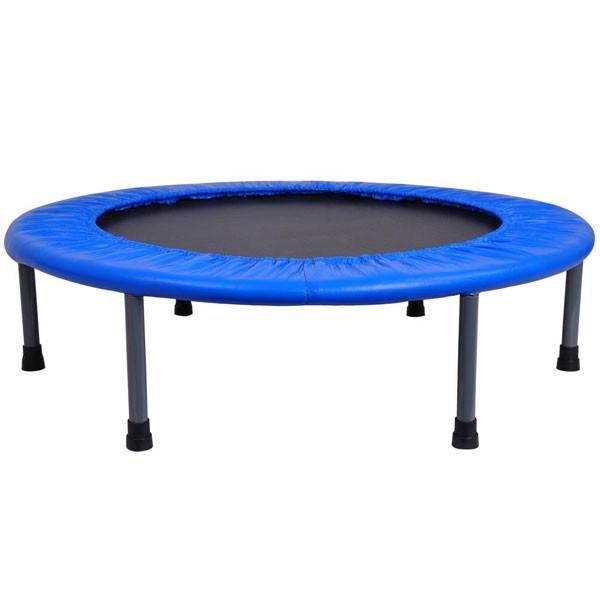 "36"" Round Kids Mini Quarter-fold Trampoline Blue"