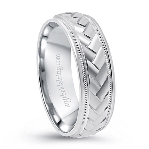 Men's Braided Ring - Love this Gold Wedding Band - Perfect! - $859.99 - http://www.mybridalring.com/Mens/braided-comfort-fit-wedding-band-in-14k-white-yellow-gold/