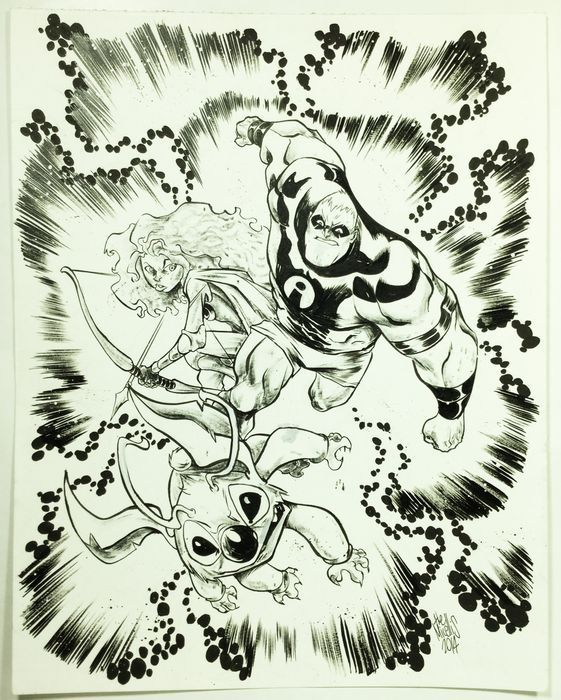 Micelli, Alessandro - Tribute to Jack Kirby's characters - (2014) - W.B.