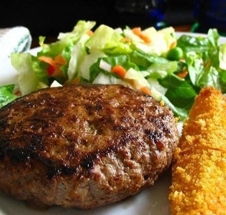Simple and direct but great tasting burgers. Dress them up any way you like.
