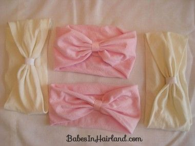 How to Make a #BabyHeadband out of #BalletTights from #BabesInHairland