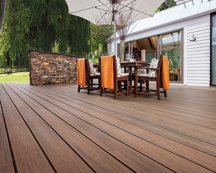 Trex Transcend In Spiced Rum Destinationtrexsweeps Composite Decking Colors Patio Design Diy Exterior