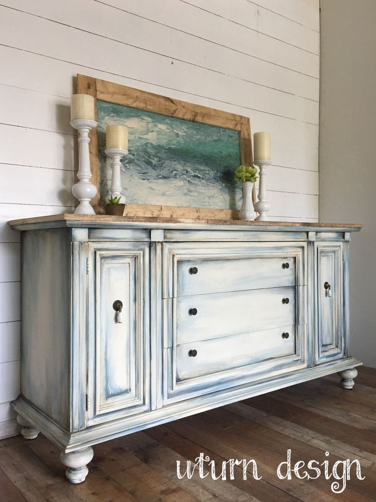 Coastal buffet By uturn design #refinishedfurniture