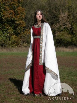 Medieval Franks Dress Underdress And Shawl