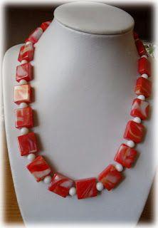 Silvia Jewellery of Style: Collana corta perle quadrate