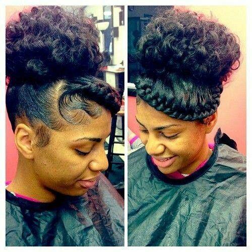 Side Braid High Bun Sleek Edges Hair Styles