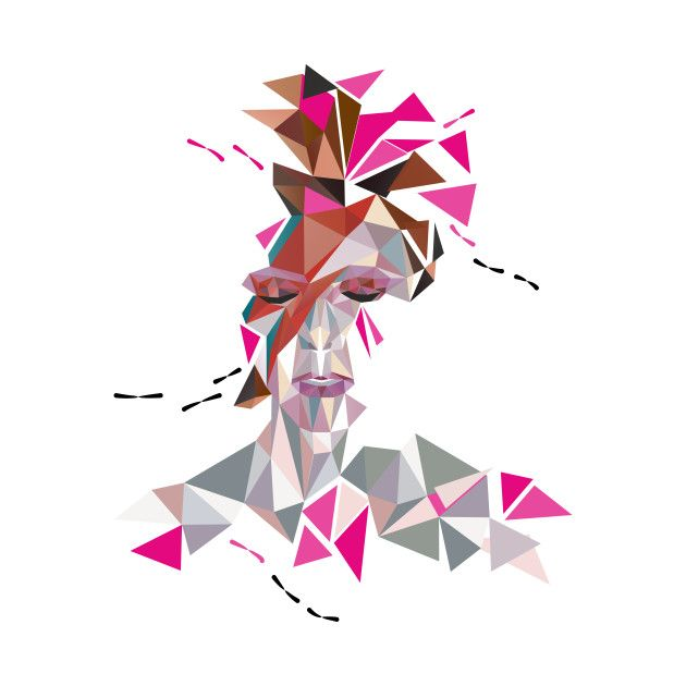 Awesome 'Bowie+Stardust' design on TeePublic!