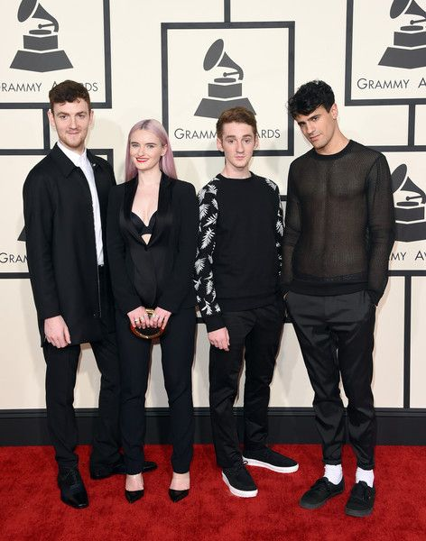 Milan Neil Amin-Smith Photos Photos - (L-R) Jack Patterson, Grace Chatto, Luke Patterson and Milan Neil Amin-Smith of Clean Bandit attend The 57th Annual GRAMMY Awards at the STAPLES Center on February 8, 2015 in Los Angeles, California. - 57th GRAMMY Awards - Arrivals