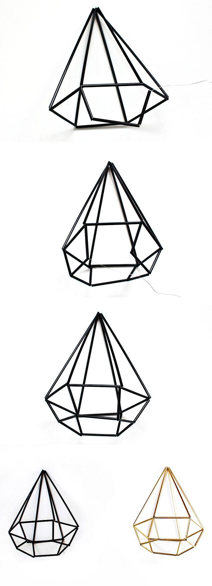 DIY himmeli geometric gem tutorial
